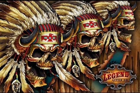 Флаг Черепа индейцев