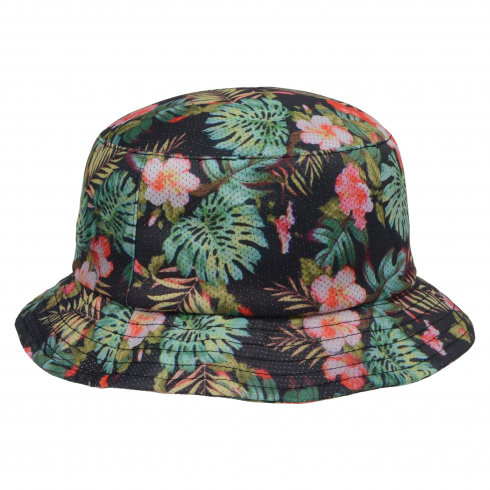 tropical_hawaii_bucket_hat_sun_outdoor_fishing_hiking_surfing_sublimation_black_1